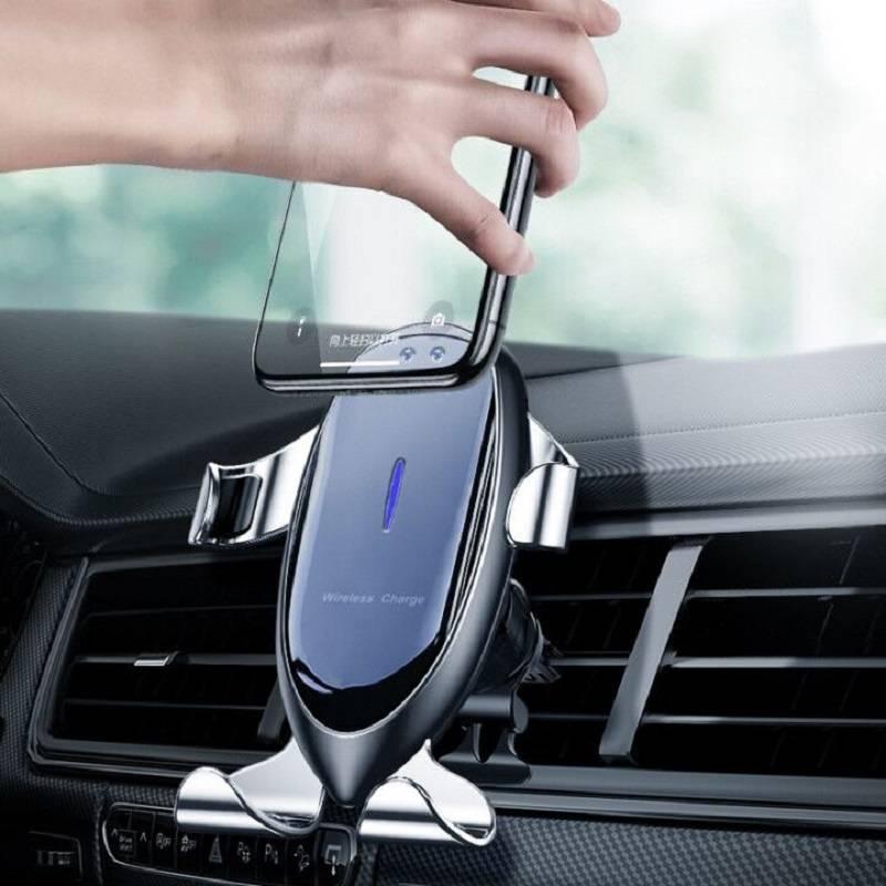 比视特车载无线充电器手机支架全自动感应汽车内用导航支撑架