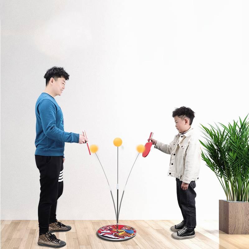 金属底座乒乓球训练器自练神器家用儿童网红弹力软轴专业室内玩具