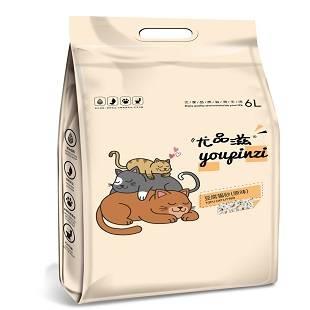 尤品滋猫砂细砂6L*2包豆腐猫砂绿茶无尘除臭结团天然植物2.5kg*2