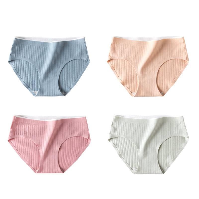 莫代尔内裤女纯棉抗菌裆中腰女士三角裤日系少女可爱透气亲肤内裤