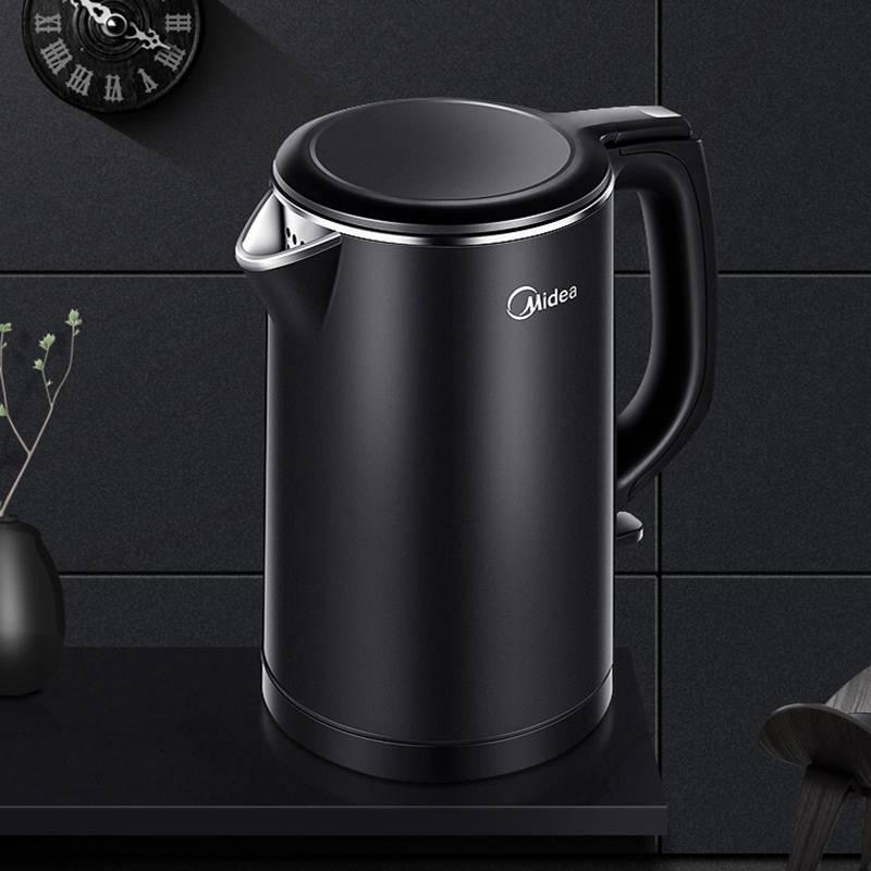 美的电热烧水壶器家用小型水壶自动断电一体保温开水壶快速烧水