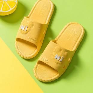 可愛拖鞋女防滑室內家用夏天情侶居家浴室軟底卡通涼拖鞋男士夏季