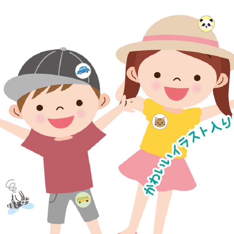 卡通日本驱蚊贴儿童宝宝婴儿防蚊贴神器便携随身扣户外蚊子虫叮咬