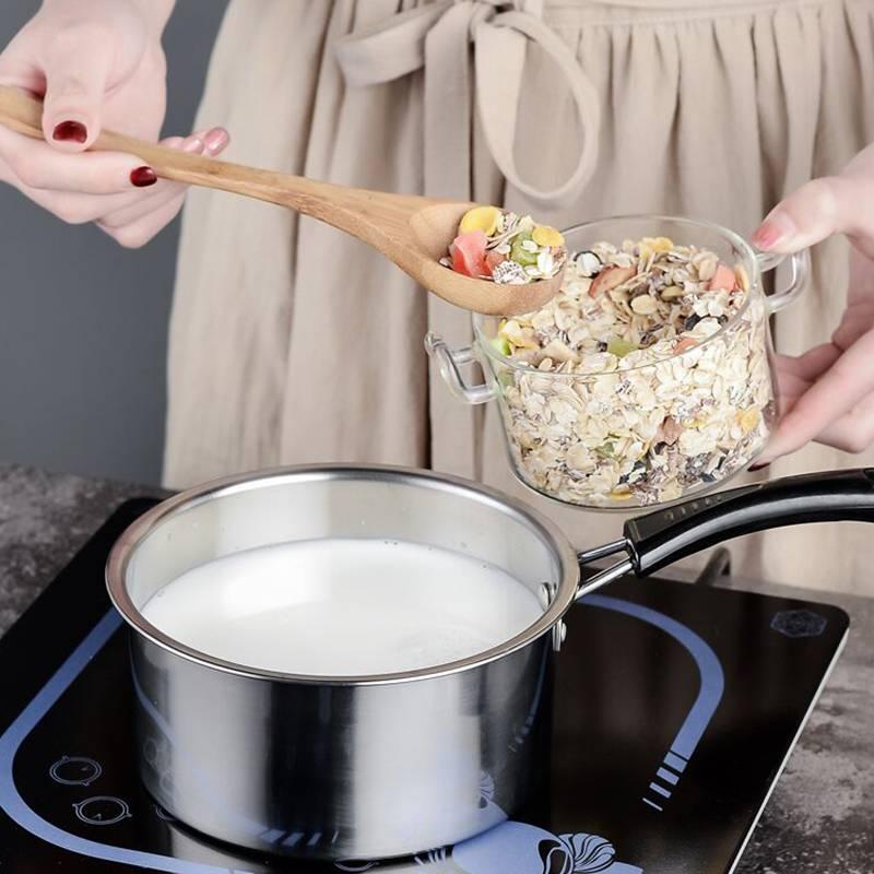 泡面锅小煮锅不锈钢家用煮面小蒸锅热奶锅拉面锅汤锅方便面锅燃气