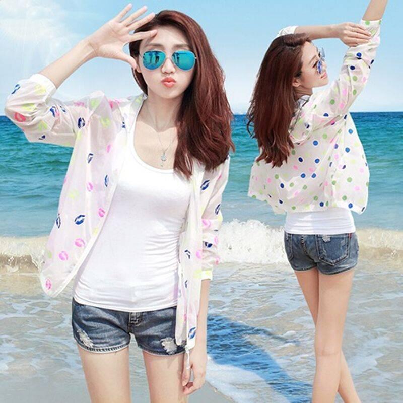 防晒衣2020夏季新透明清凉短韩版超薄透气速干户外衣女短外套女士