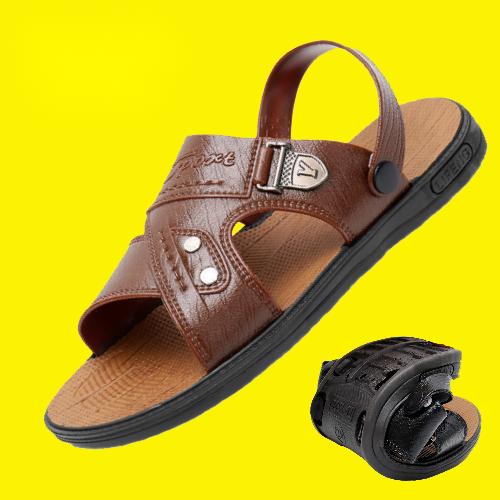 【能穿三年】凉鞋男防水夏季露趾青年沙滩鞋两用中年男士凉拖鞋子
