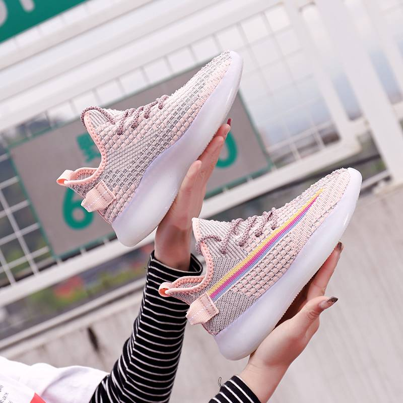 2020夏季满天星反光鞋子女韩版飞织休闲鞋女流行女鞋学生运动鞋
