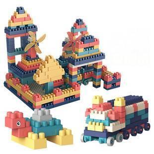 益智啟蒙大顆粒環保兒童積木玩具寶寶趣味拼裝拼插DIY