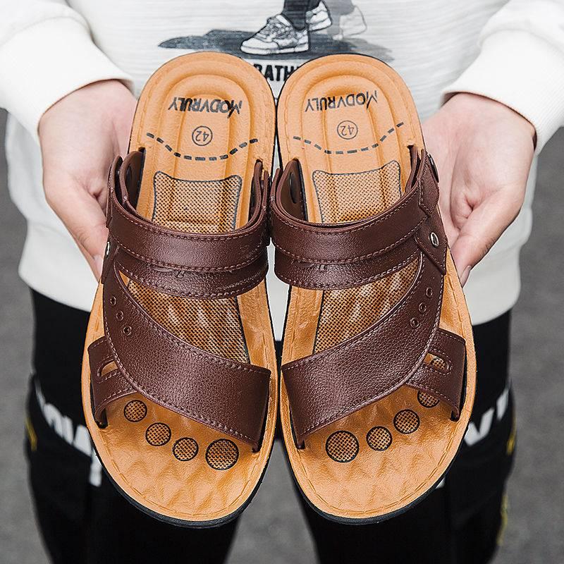 【穿坏包换】凉鞋男学生韩版男士新款防滑沙滩鞋夏季凉拖鞋皮凉鞋