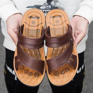 【穿壞包換】涼鞋男學生韓版男士新款防滑沙灘鞋夏季涼拖鞋皮涼鞋