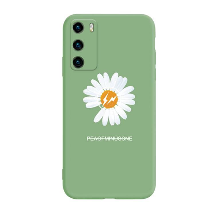 华为p40pro手机壳p40镜头全包p30pro液态硅胶p30防摔保护套p4o软壳带摄像头保护p3o小雏菊网红同款白菊花