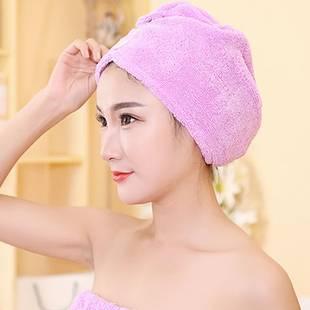 珊瑚绒洗澡洗头帽子干发帽