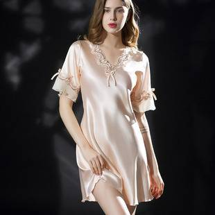 【618预售】【慕朵诗】轻奢性感冰丝睡衣睡裙