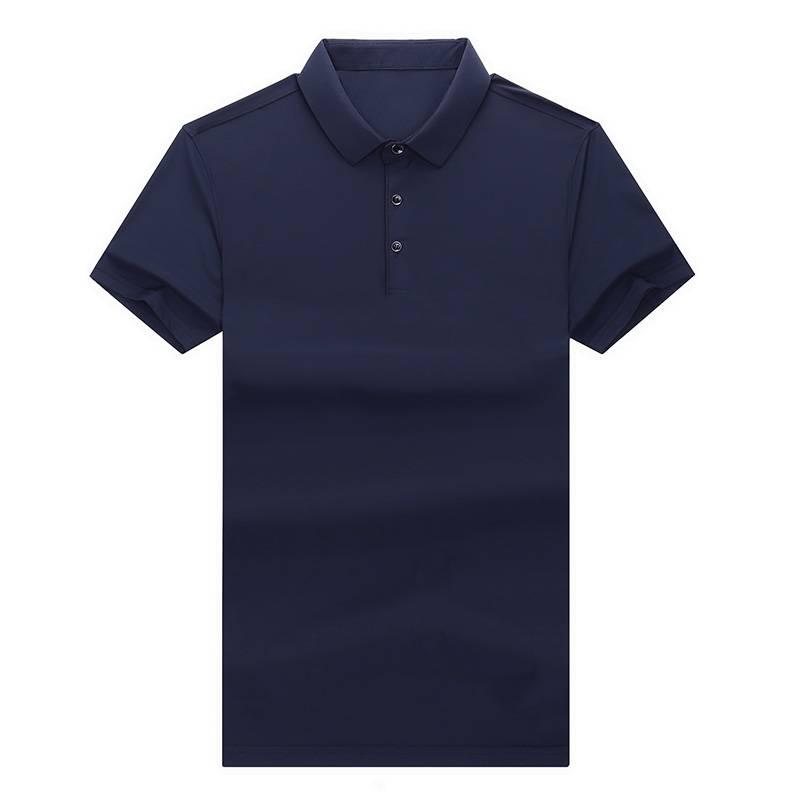 热卖爸爸夏装短袖t恤 中老年男士桑蚕丝100%POLO衫中年男装上衣