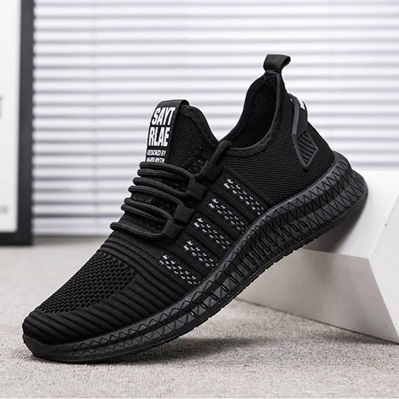 男士网鞋运动透气运动休闲鞋低帮平跟网面韩版时尚潮流KXN