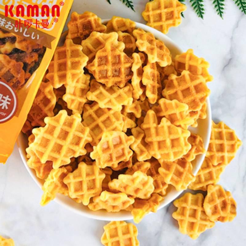 咔啰卡曼日式法芙饼薄脆饼干日本风味蛋黄煎饼小红书网红儿童零食