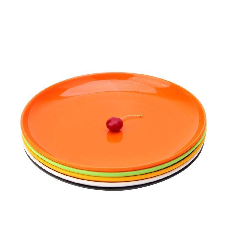 密胺圆盘商用塑料盘子碟子仿瓷餐具快餐盘子饭盘火锅自助菜盘商用