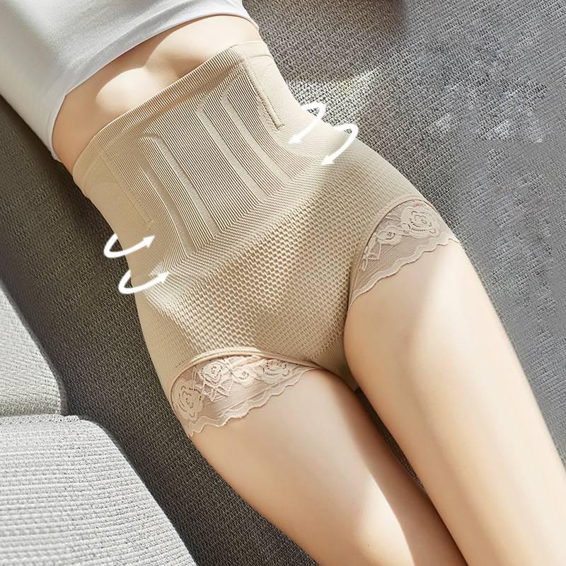 蕾丝高腰塑身夏季薄款收腹内裤