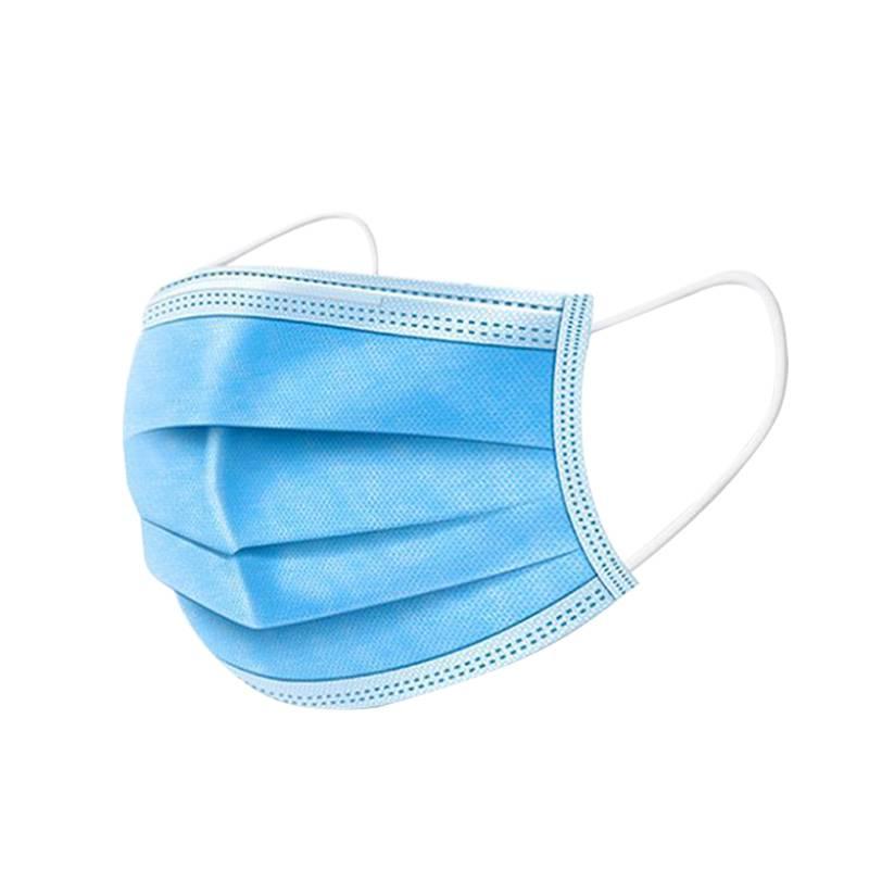 一次性口罩成人儿童三层口罩夏天防尘透气防晒白口罩50片现货包邮