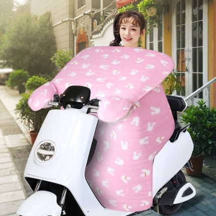电动车挡风被夏季电瓶小摩托电车防雨遮阳罩防晒防水春秋夏天薄款