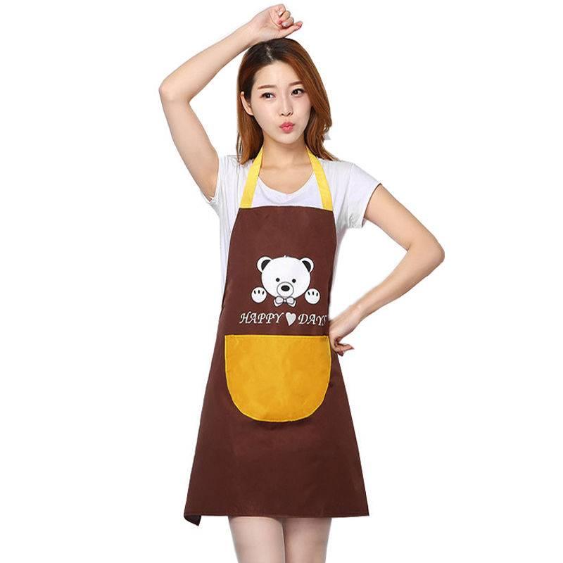 厨房围裙防水珊瑚绒可擦手围裙可调节防油罩衣围裙餐厅餐饮工衣