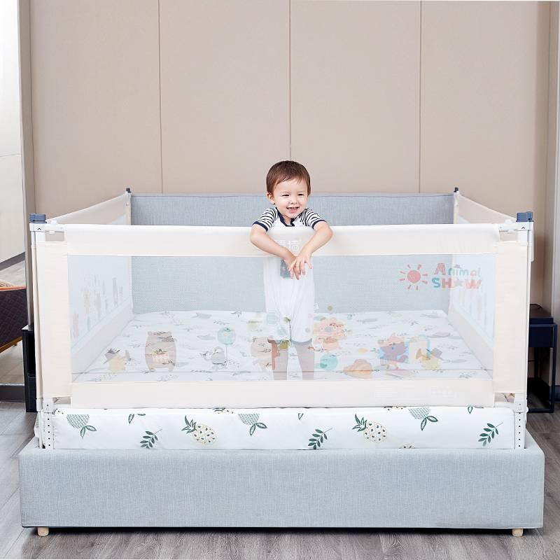 棒棒猪婴儿童防摔床围栏宝宝床边安全床护栏防掉床神器挡板单面