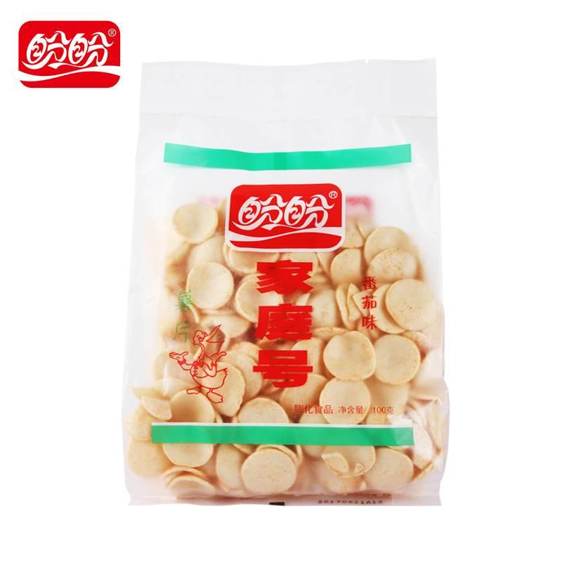 盼盼家庭号超大包薯片童年味道番茄办公室休闲零食下午茶100g*2包
