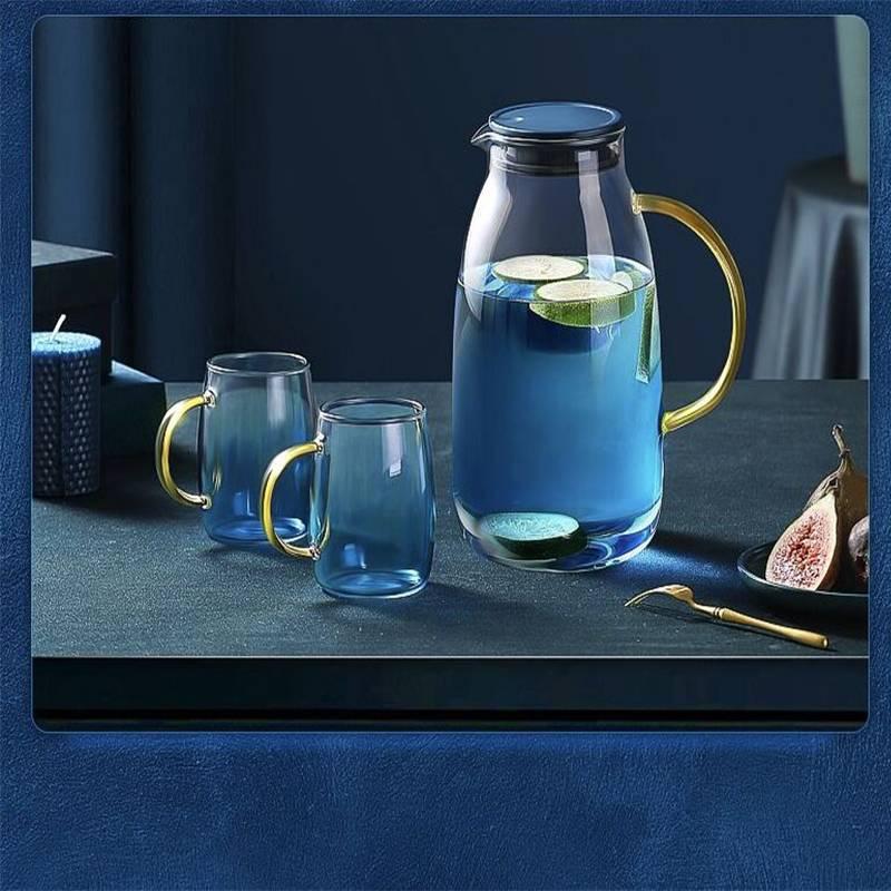 花间道北欧凉水壶日式大容量开水杯耐高温茶壶套装创意玻璃冷水壶