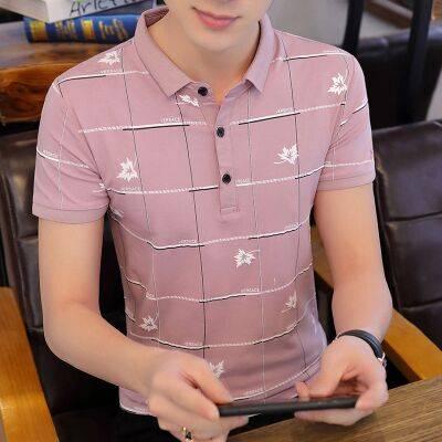 夏季男士短袖POLO衫韩版时尚潮流半袖翻领T恤衫男