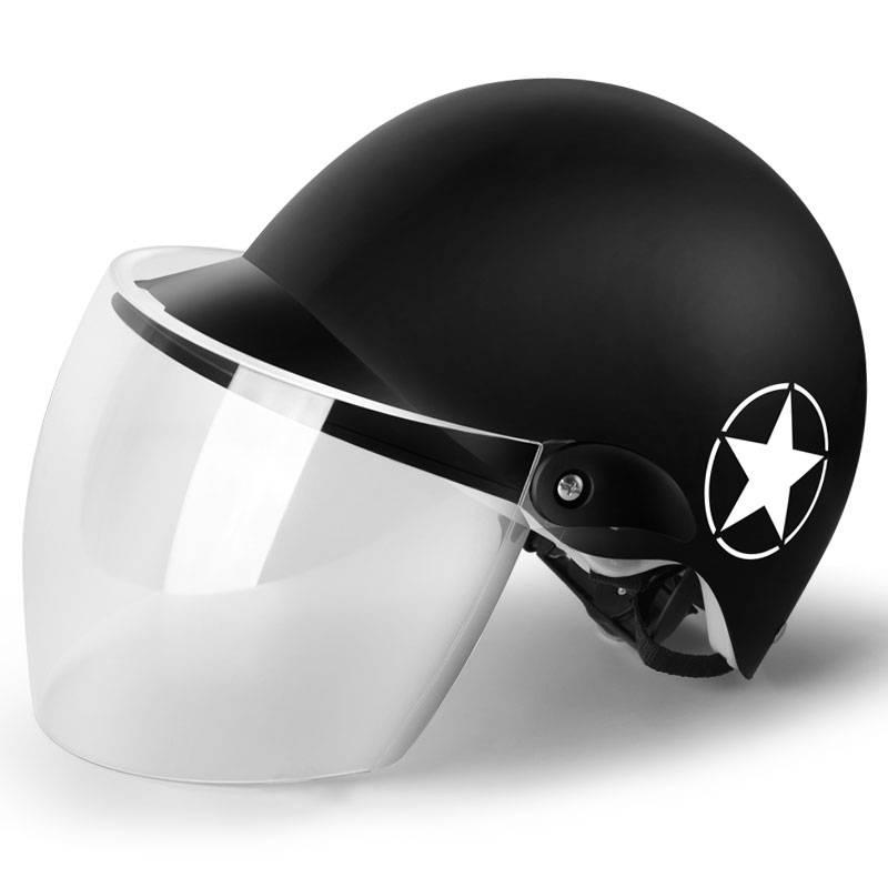 电瓶车头盔电动车男安全头帽女士夏季安全帽半盔灰儿童四季安全盔