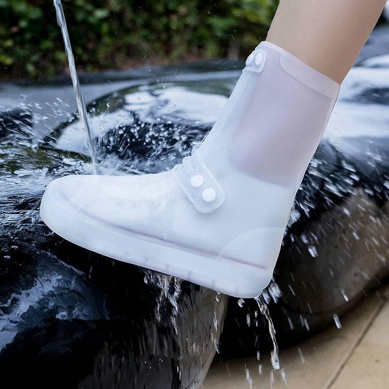 防雨鞋套女防水加厚防滑耐磨雨天防水鞋套可洗高筒雨鞋男耐磨雨靴