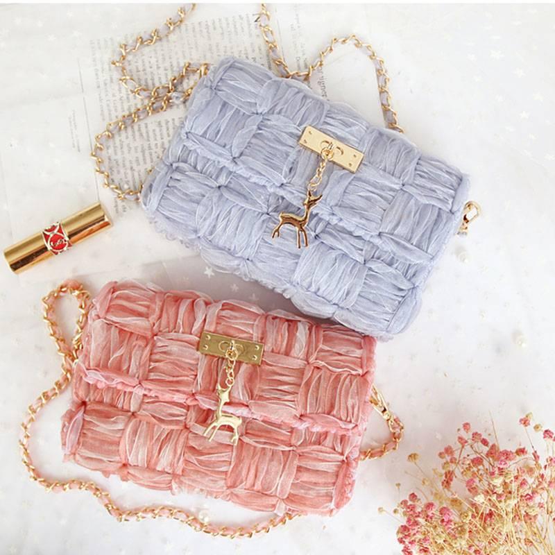 手工diy编织包包材料包丝带自制作可爱夏季单肩斜挎包送女友礼物