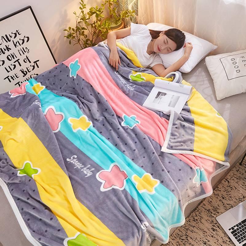 北极绒夏季珊瑚毯子夏天盖毯午睡毛巾被床单人薄款空调法兰绒毛毯