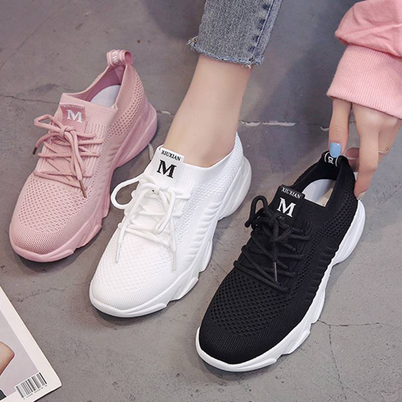 韩版百搭网面透气运动鞋