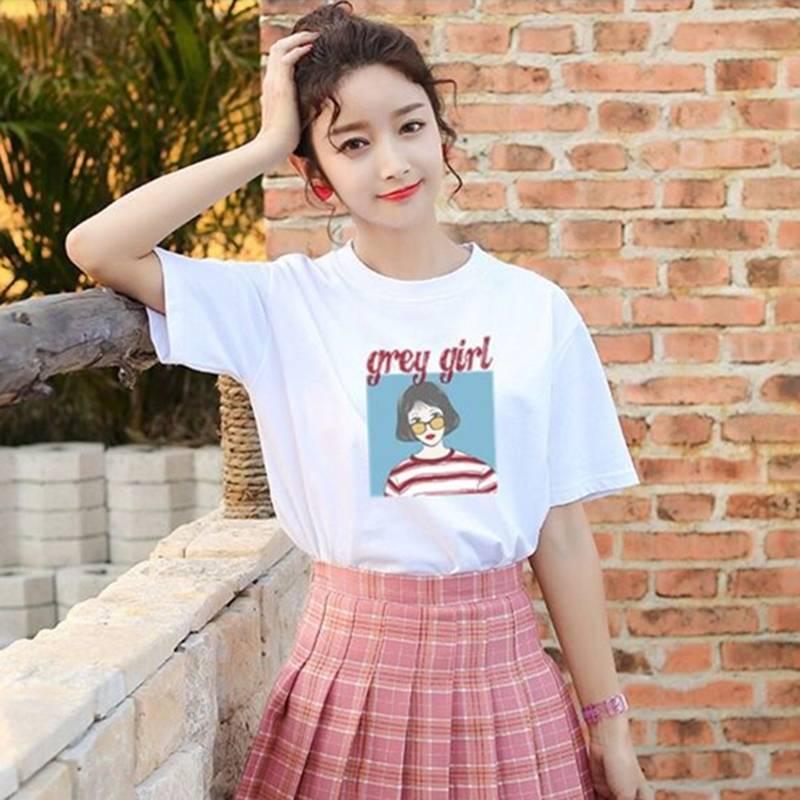 【多款任选】2020夏款印花多款短袖女装T恤韩版超火百搭潮T女