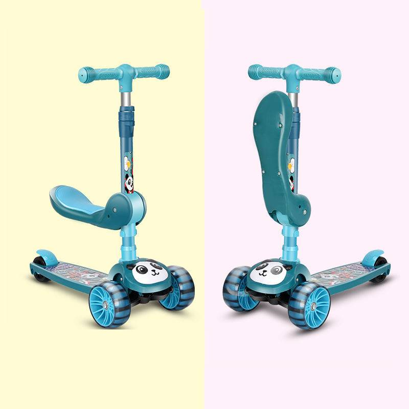 三合一儿童三轮小孩溜溜车可坐可滑滑板车
