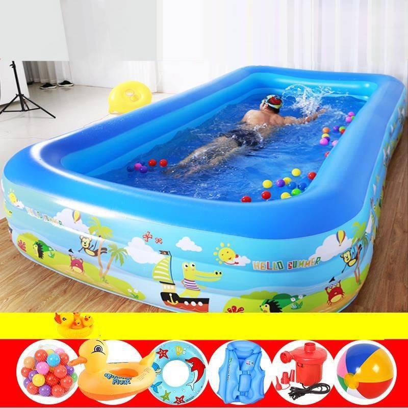 充气游泳池家用大人儿童小孩宝宝加厚洗澡婴儿家庭超大折叠戏水池