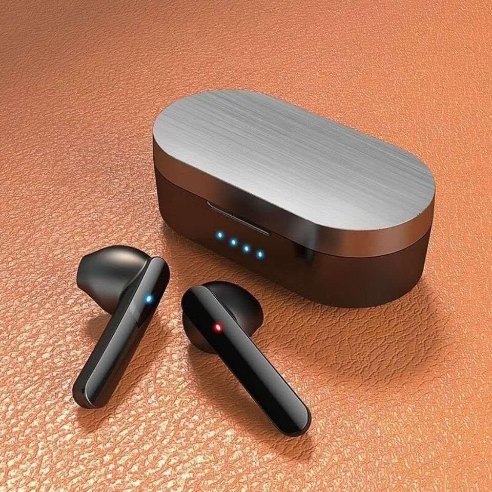 入耳式蓝牙无线耳机双耳款立体声音乐指纹触控耳塞电池仓超长待机