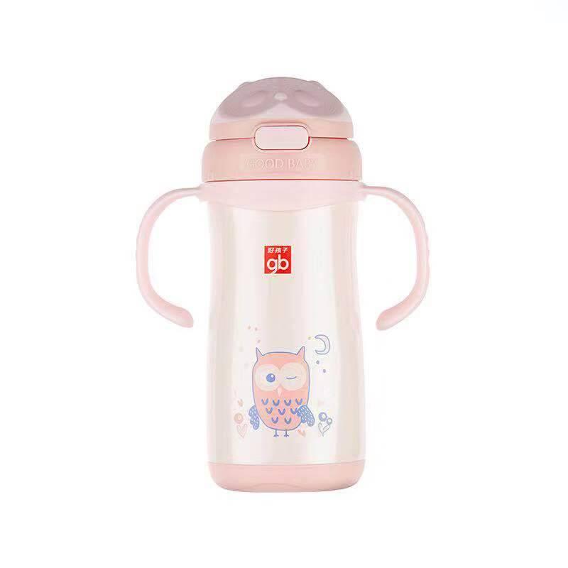 GB好孩子小学生儿童保温杯婴儿吸管学饮水杯宝宝保温杯幼儿园水壶
