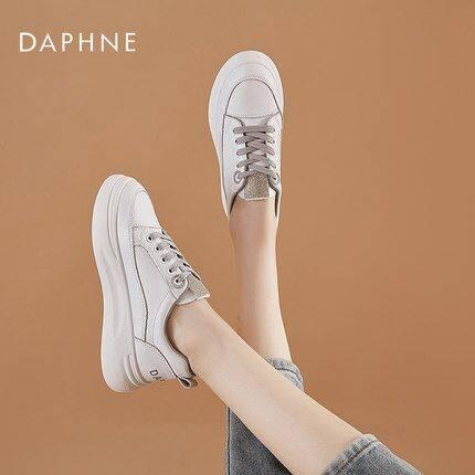 Daphne/达芙妮正品 新款真皮女舒适网面老爹鞋ins小白鞋凉鞋单鞋